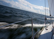 Sailing with speed Royalty Free Stock Photography