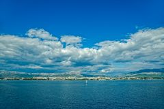 Sailing Split waters Royalty Free Stock Images