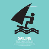 Sailing Sport Symbol Royalty Free Stock Photography