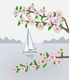 Sailing in Springtime Royalty Free Stock Photo