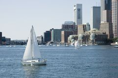 Sailing on St Charles River Royalty Free Stock Photography