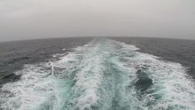 Sailing from the stern of a ferry stock video
