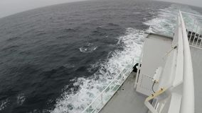 Sailing from the stern of a ferry stock video footage
