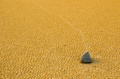 Sailing stones, Death Valley, California Stock Photos