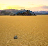 Sailing stones in the Racetrack, Death Valley Stock Photography