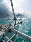 Sailing before storm Stock Photos