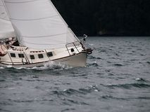 Sailing in a storm Royalty Free Stock Photos