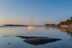 Sailing on a summer night. Stock Photo