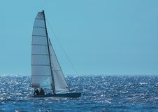 Sailing on a summer day Stock Image