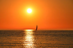 Sailing Into the Sun Royalty Free Stock Photography