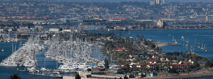 Sailing in Sunny San Diego Royalty Free Stock Image