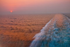 Sailing sunrise Stock Images