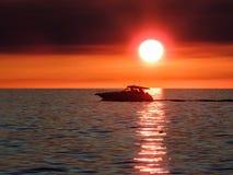 Sailing on the Sunset Stock Image