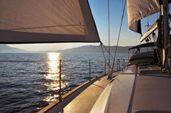 Sailing At Sunset Royalty Free Stock Photo