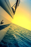 Sailing into the sunset Royalty Free Stock Images
