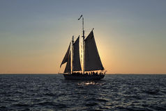 Sailing into the sunset Stock Photography