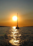 Sailing at Sunset Royalty Free Stock Images