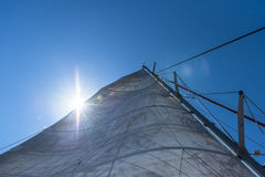 Sailing in the Sunshine Stock Images