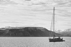 Sailing in Svalbard Royalty Free Stock Image