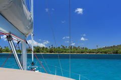 Sailing SVI Vieques. Sailing the Spanish Virgin Islands - Vieques stock images
