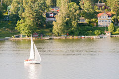 Sailing in sweden Stock Images