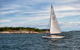 Sailing in the Swedish archipelago of Gryt Royalty Free Stock Image