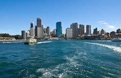 Sailing into sydney Royalty Free Stock Photo
