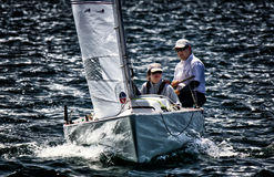 Sailing on Sydney Harbour royalty free stock image