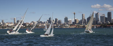 Sailing, Sydney Harbour Stock Photography