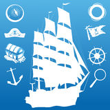Sailing symbols Stock Photo
