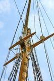 Sailing tackles. Of an ancient sailing vessel royalty free stock photo