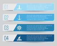 Sailing Themed Infographic. With four options Royalty Free Stock Image