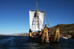 Sailing titicaca Stock Photography