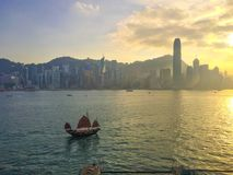 Sailing to Hong Kong Island Stock Photos