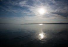Sailing to the horizon. Royalty Free Stock Photos
