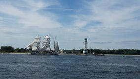 Sailing to the Kieler Week Stock Images