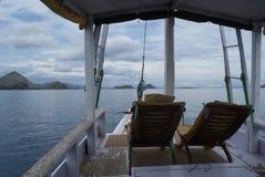 Sailing to Komodo and Rinca Stock Photography
