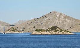 Sailing to Kornati archipelago Royalty Free Stock Photography