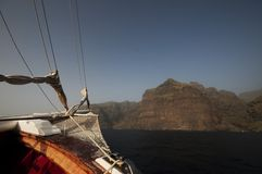 Sailing to land Royalty Free Stock Photography