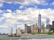 Sailing to New York royalty free stock images