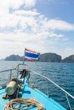 Sailing to Phi Phi island Stock Image