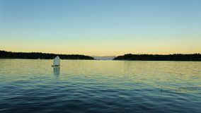Sailing to Sunset Royalty Free Stock Photography
