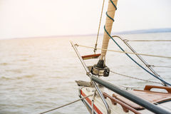 Sailing to the sunset Stock Image