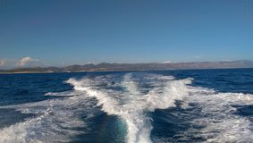 Sailing to Vis Royalty Free Stock Photo