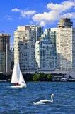 Sailing in Toronto harbor Stock Photos