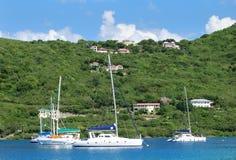 Sailing In Tortola Stock Photo