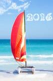 Sailing toward 2016 Stock Photography