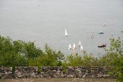 Sailing training in Xuanwu Lake Royalty Free Stock Images