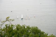 Sailing training in Xuanwu Lake Royalty Free Stock Photography