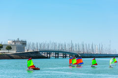 Sailing training of young children in La Rochelle Stock Photography